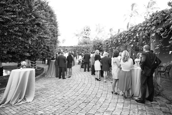 Black and White photo of outdoor event